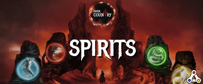 Dark Country spirits trading card game Wax