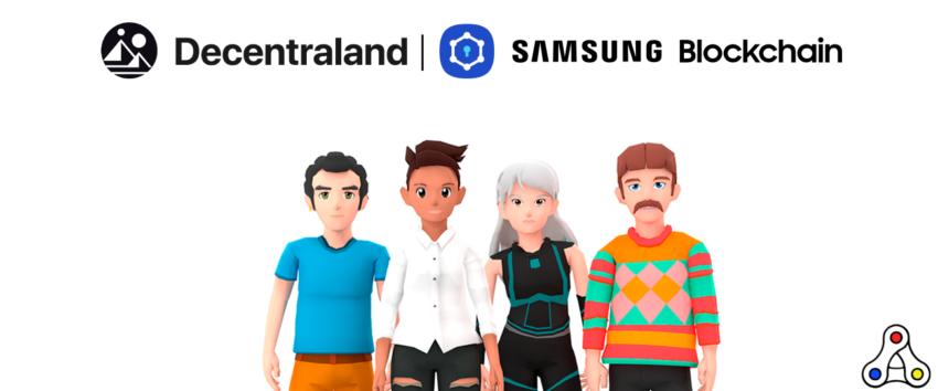 Decentraland Samsung partnership header