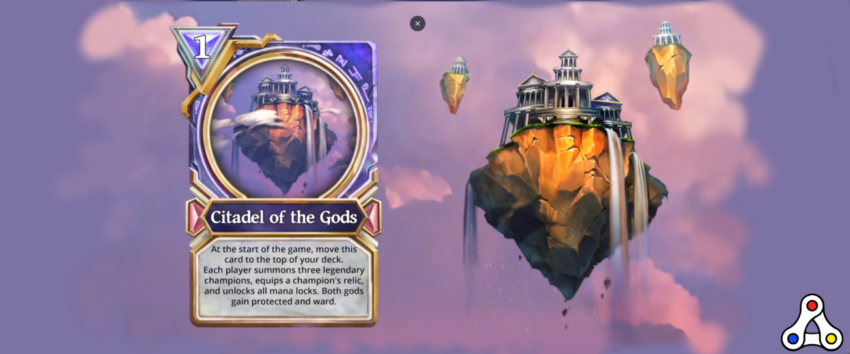 Gods Unchained mythic card Citadel of the Gods header