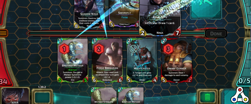 Nova Blitz gameplay header