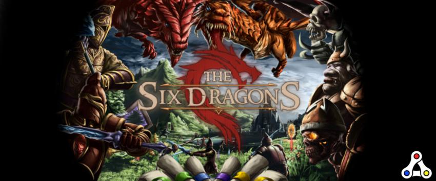 the six dragons logo artwork header