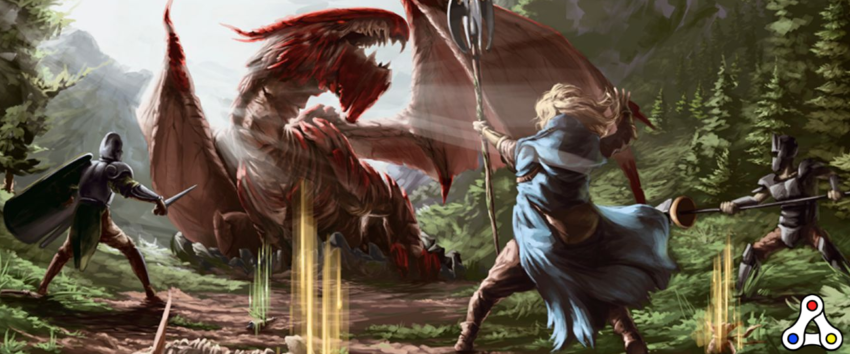 The Six Dragons boss fight artwork