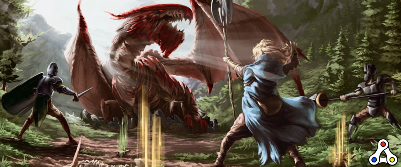 The Six Dragons boss fight artwork
