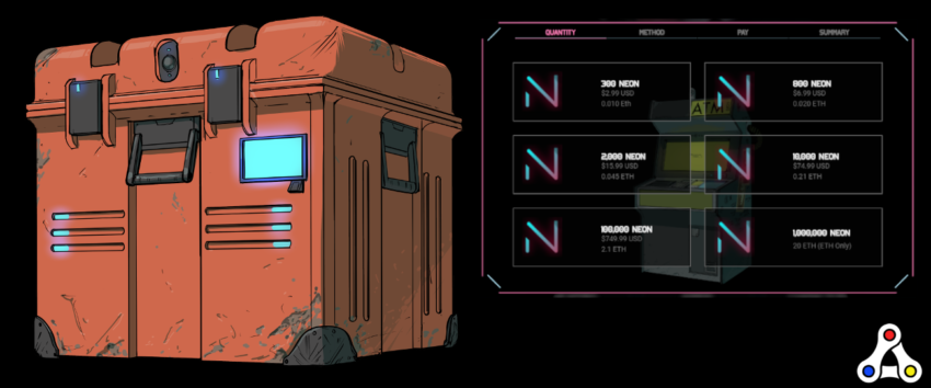 neon district character customization header