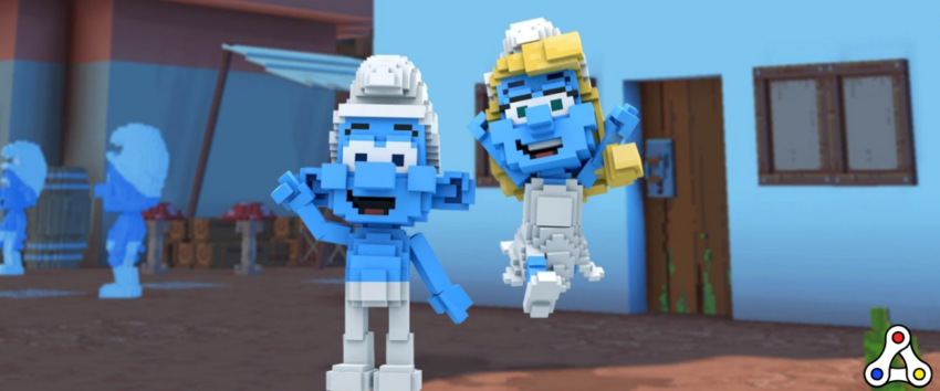 smurfs sandbox partnership header