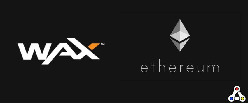 wax ethereum logo header