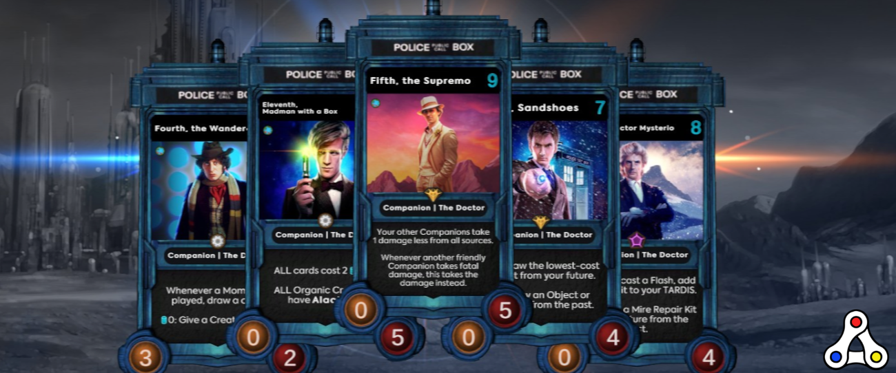 Doctor Who Worlds Apart tardis cards trading card game