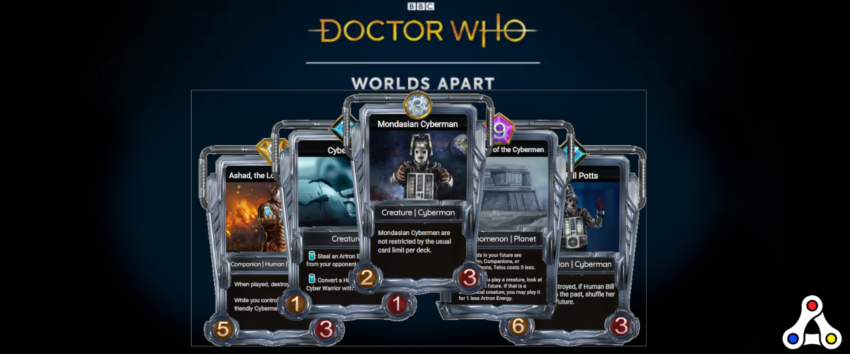 doctor who worlds apart cards frames