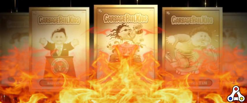 garbage pail kids topps burn 4 gold
