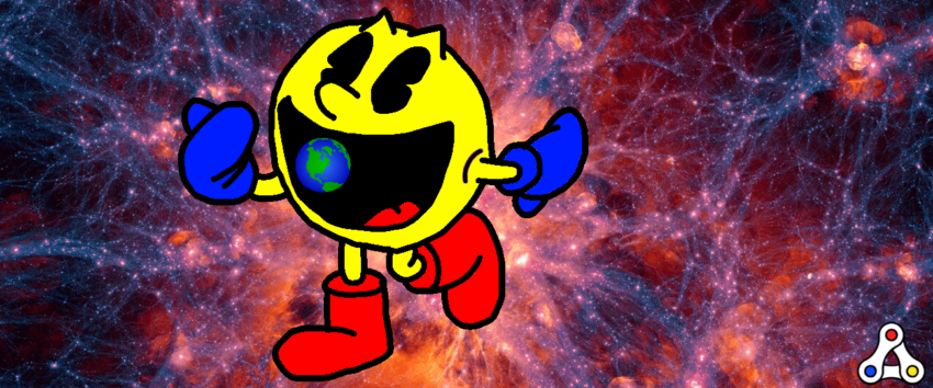 pacman gaming swallowing the world