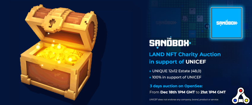 sandbox unicef charity auction sand bidding
