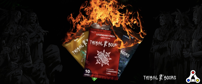 tribal books burn NFT trading cards WAX