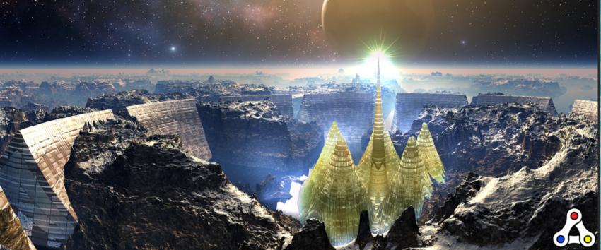Alien Worlds Thunderdome artwork