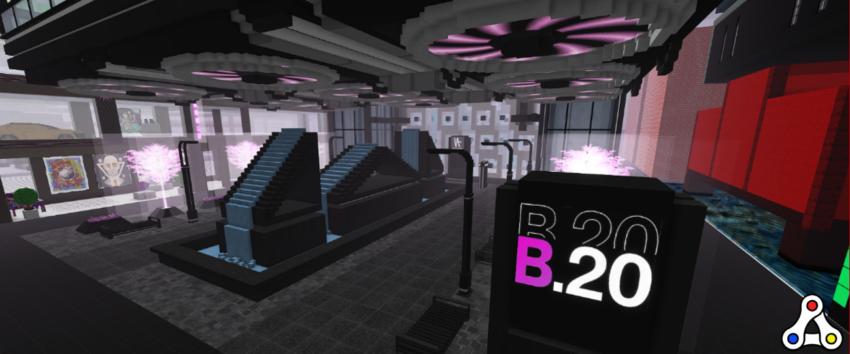 b20 metapurse beeple museum cryptovoxels