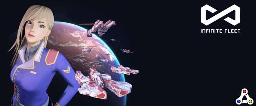 infinite fleet artwork space girl logo