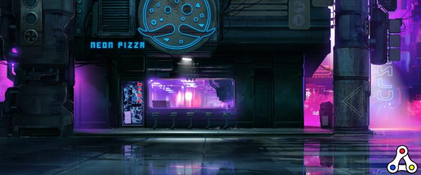 neon district pizza boxes