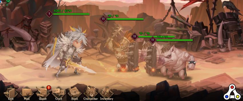 nine chronicles battle screenshot