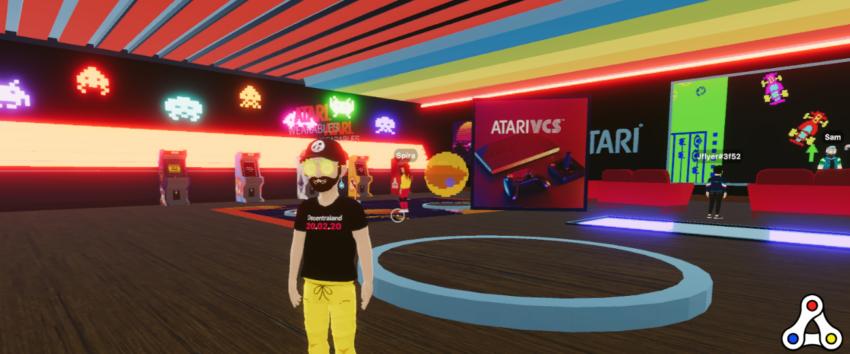 Atari Arcade Decentraland screenshot