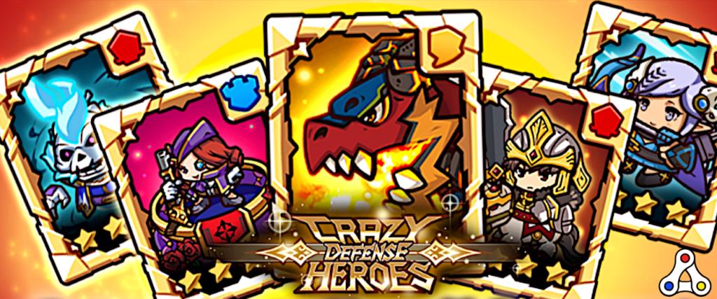 crazy defense heroes cards artwork