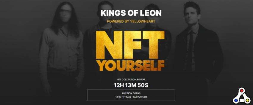 Kings of Leon YellowHeart NFT auction