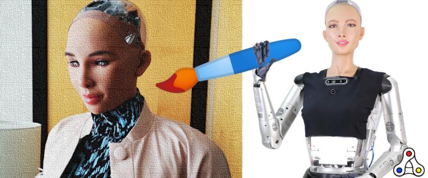 sophia nft robot