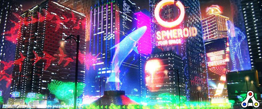 spheroid universe artwork XR advertisement