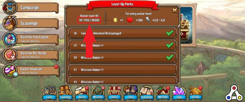 crazy defense heroes TOWER xp rewards