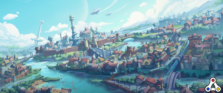 Ember Sword city skyline artwork