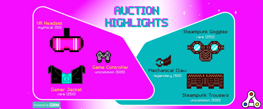 aavegotchi auction bid-to-earn wearables nfts