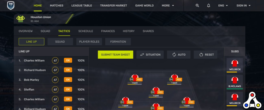 soccer manager elite new interface