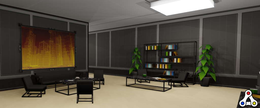 MegaCryptoPolis interior 3d world screenshot