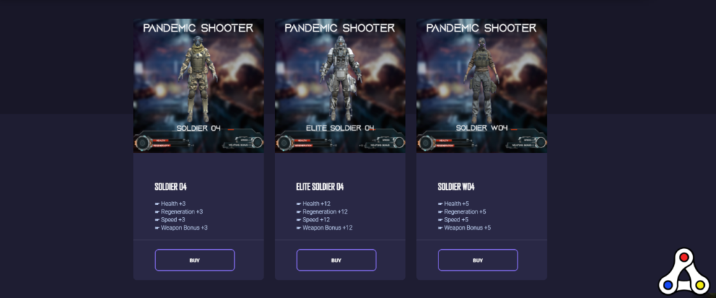 pandemic shooter soldier NFTs marketplace