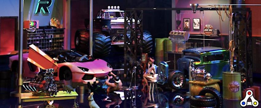 Riot Racers mechanic shop nft artwork