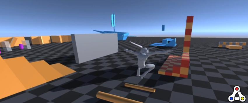 Green Rabbit test course alpha test screencap footage