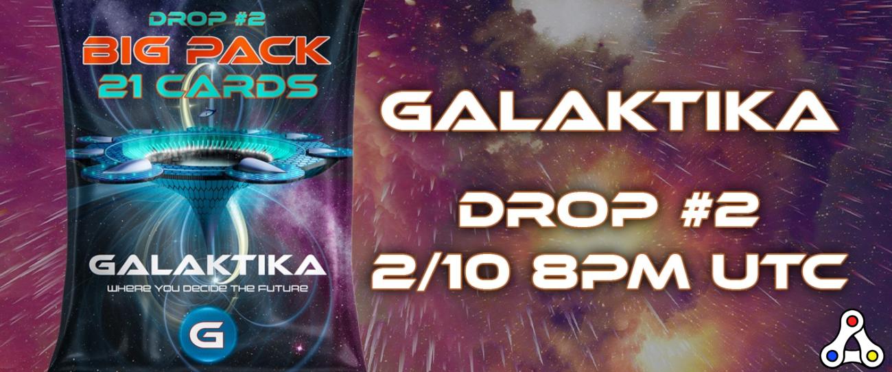 galaktika card pack drop wax